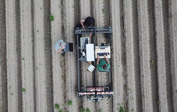 Top view of the robot